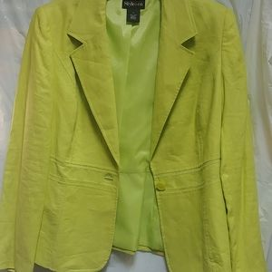 Linen detailed jacket